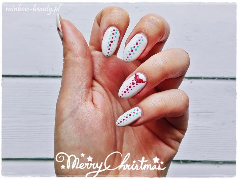 świąteczny Manicure Hybrydowy Rainbow Beauty Blog
