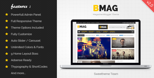 Download Free, Premium BMAG, Responsive Blogger Template,