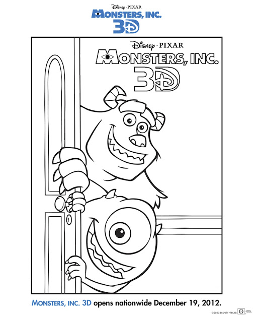 Monster Inc Coloring Pages Template To Color
