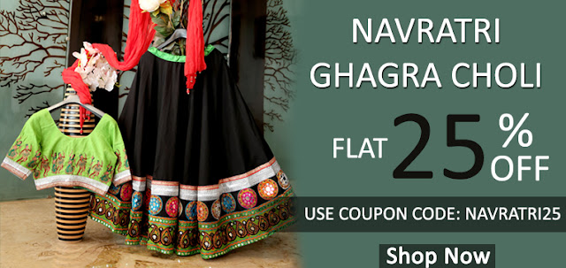 Navratri 2016 Garba Dandiya Special Gujarati Chaniya Choli and Ghagra Choli and Lehenga Choli Online Shopping with Special Discout offer