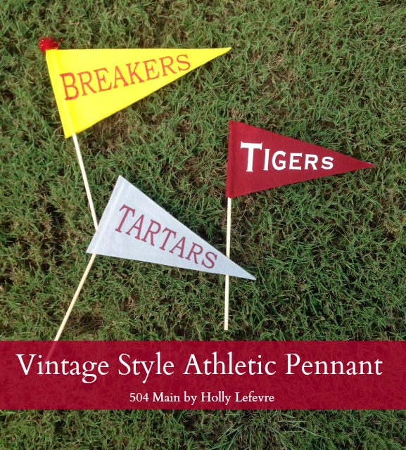Cheer on your team or decorate your party with pennants.