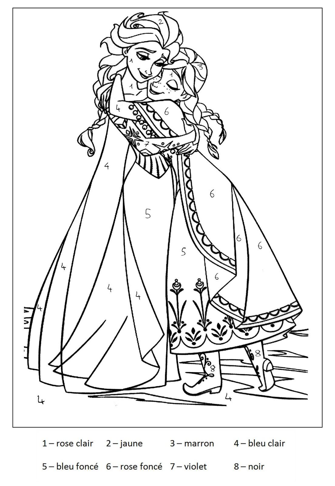 Tranh tô màu Elsa và Anna 11