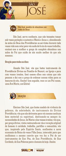 Novena de São José dia 7 - São José e a Divina Providência