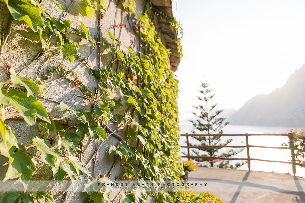 Detail of hotel San Pietro garden and view