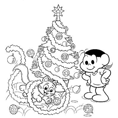 Natal Lindo Com Os Desenhos Da Turma Da Monica Desenhos E Riscos