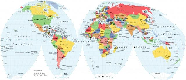 mapa mundi espanol