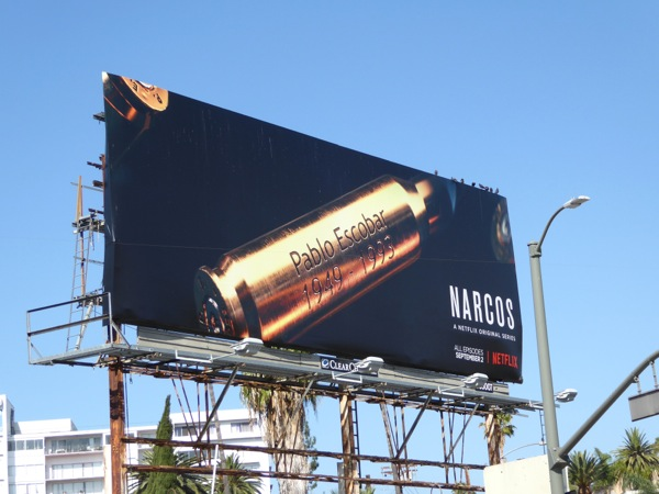 Narcos season 2 bullet shell casing billboard