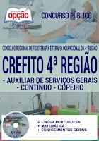 Apostila Concurso Crefito Minas Gerais - Auxiliar Administrativo