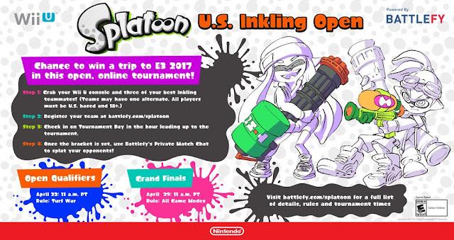Nintendo anuncia Splatoon Inkling Open para Wii U