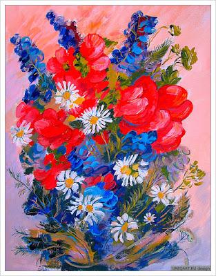 купить картину цветы, картина красные маки