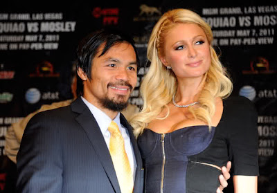 Paris Hilton and Manny Pacquiao