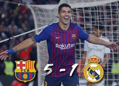 أهداف مباراة برشلونة ضد ريال مدريد فى الكلاسيكو 5 - 1 للمشاهدة بجودة HD