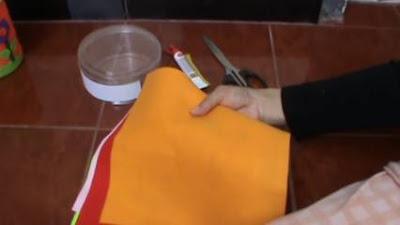 Peralatan dan Bahan dalam Menghias toples dengan kain flanel