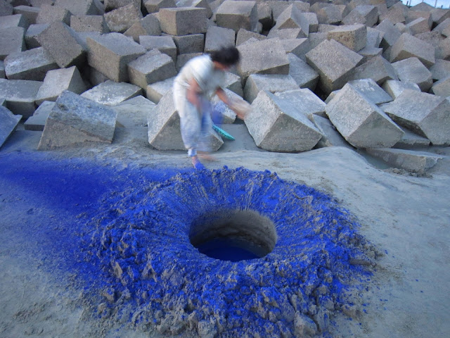 Rebirth from the blue_3,  2011, Artist Afsana Sharmin