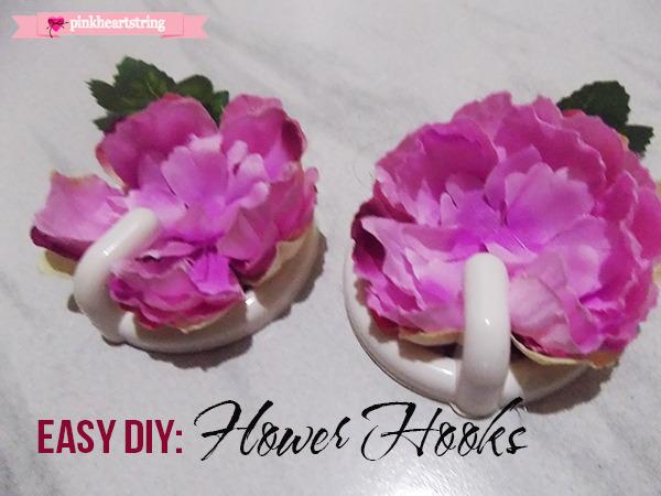 diy flower hooks