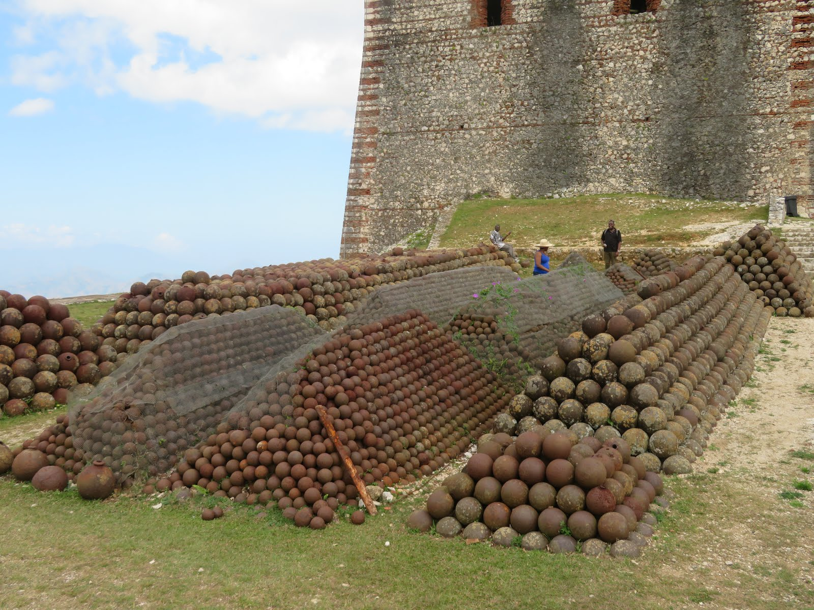 The impressive collection of cannonballs within the walls of The Citadel, in Haiti