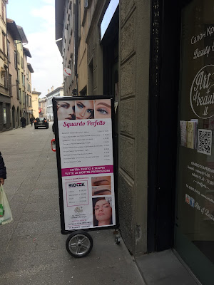 Get your eyelashes and eyebrows worked on here.