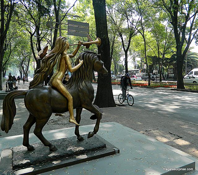Exposição de esculturas de Salvador Dali, Paseo de La Reforma, México