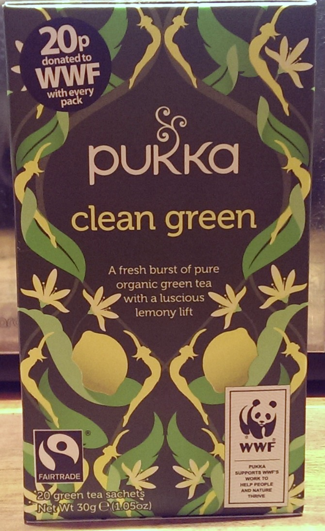 Pukka green tea with lemon