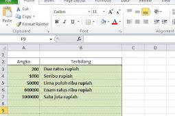 Cara Membuat Fungsi Terbilang di Excel