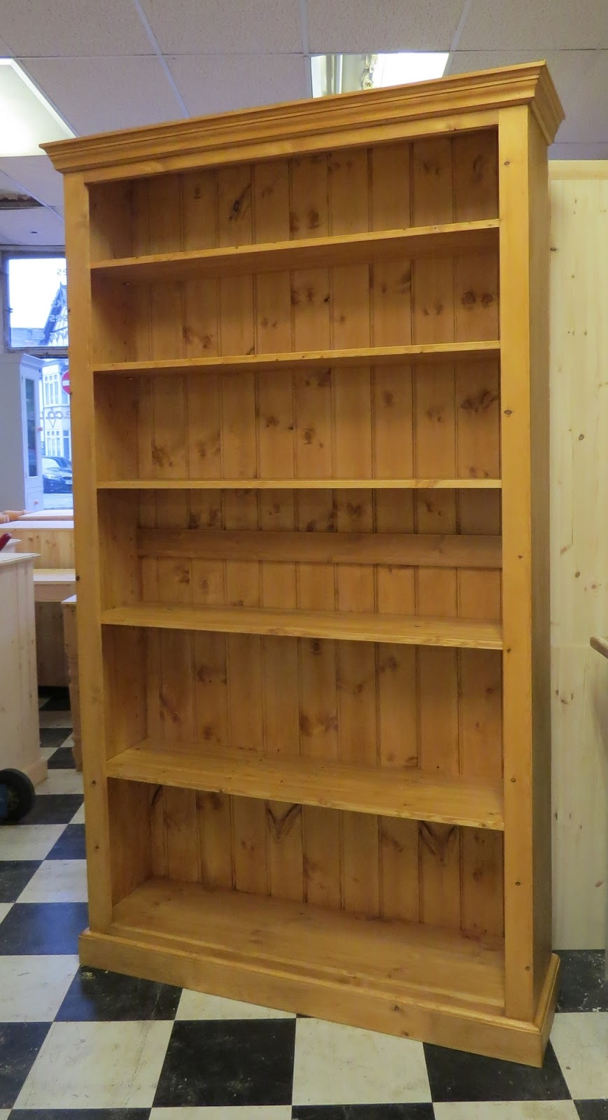 tall adjustable bookcase in Northampton. Pegasus pine Northampton