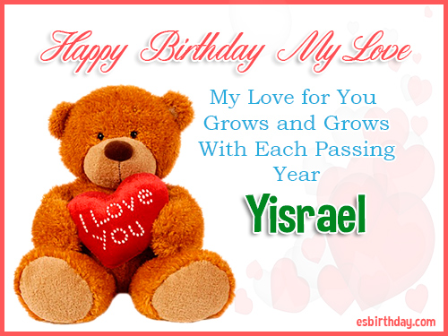Yisrael Happy Birthday My Love