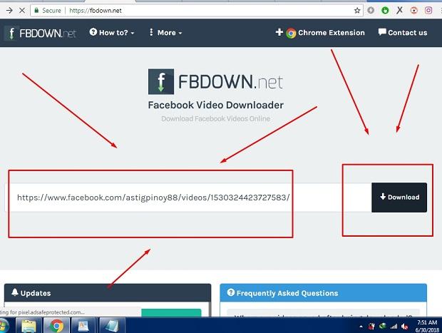 Cara Menyimpan Video Di Facebook Menggunakan Fbdown.net Terbaru 2019