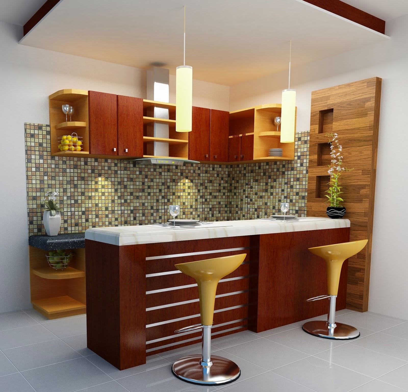 Desain Meja Bar Di Dapur