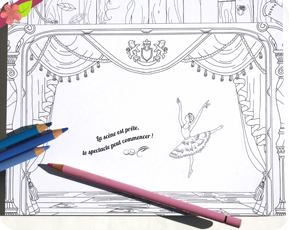 Petit théâtre à colorier - Danseuses étoiles - Anna Stiles - Gründ jeunesse