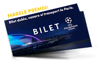 Castiga un bilet dublu Uefa Champions League, la Paris