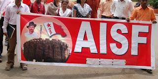 aisf-protest-ravishankar-prasad