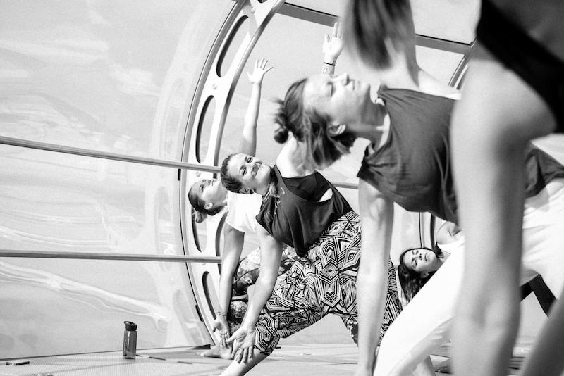 Yoga in the sky on the i360 with MyEscape and Nine Lives Yoga - Tess Agnew fitness blogger