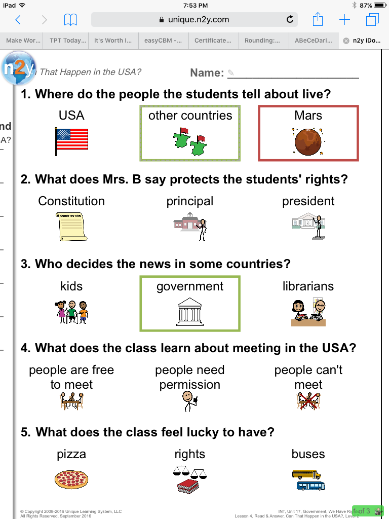 worksheet News 2 You Worksheets the bender bunch uls on ipads with student view feature you can instantly remove symbols from a worksheet by clicking n2y globe and hide symbols