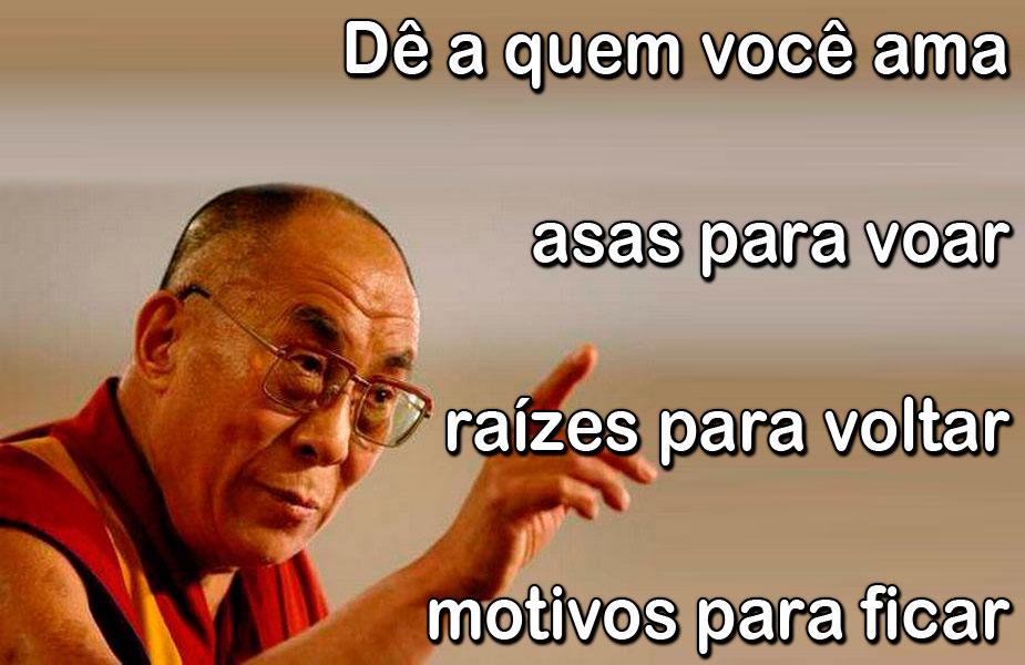 Dê A Quem Você Ama Asas Para Voar Raízes Para Voltar E: Pensamentos E Frases Do Dalai Lama