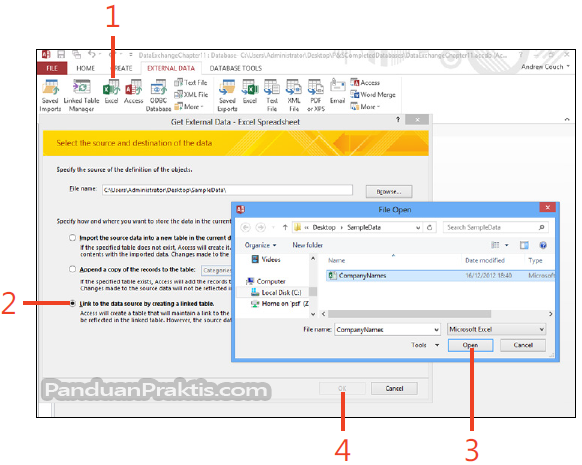 Cara Menghubungkan Ke Data Yang Ada Di Excel Dari Access 2013