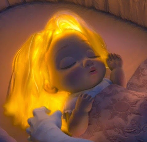 Another Just Noticed Thing After All This Time Check Out Baby Rapunzel S Blanket Tangled
