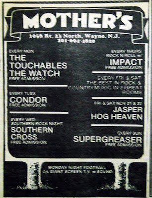 Mother's rock club band lineup