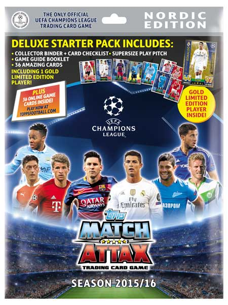 TOPPS CHAMPIONS LEAGUE MATCH ATTAX 2016 2015 15//16 FULL SET OF 26 STAR PLAYERS