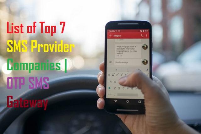 SMS Provider Companies | OTP SMS Gateway