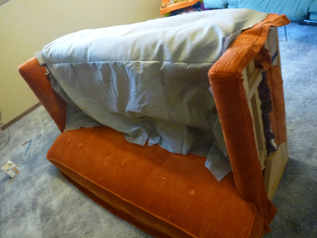 With The Padding Issue Addressed, I Could Move On And Loosely Position The  New Front Piece Onto The Bottom Of The Sofa: