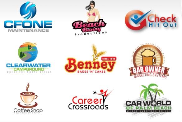 Logos varios realizados por diseñadores de Fiverr