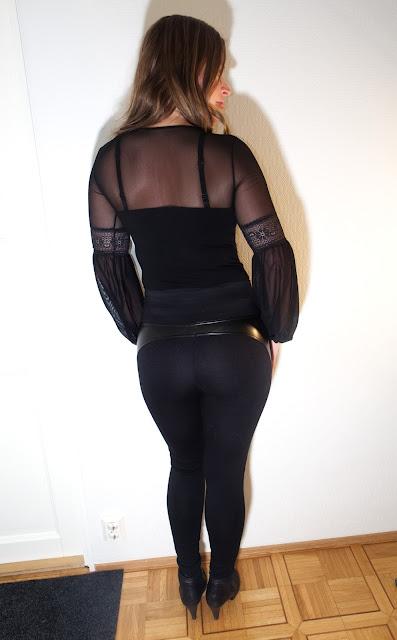 leeloo, legginssit, Bas Bleu Meloe, tyylikäs, näyttävä, keinonahka yhdistettynä kankaaseen, muotoilevat, korkea vyötärö, upea, naisellinen, seksikäs, nainen, hymy, kaunis, kauneus, gatta jacquilene body, body, peppu