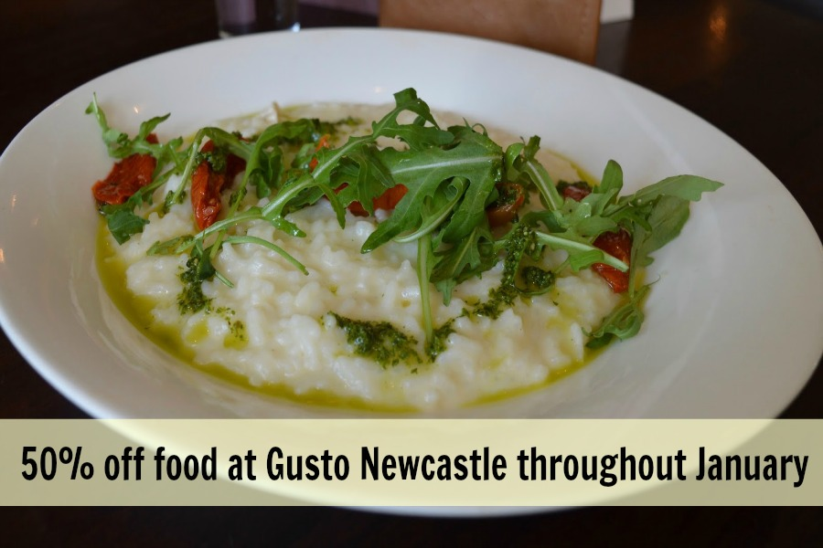 50% off food at Gusto Newcastle in January