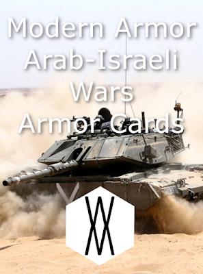 Modern Armor - Arab-Israeli Wars Armor Cards