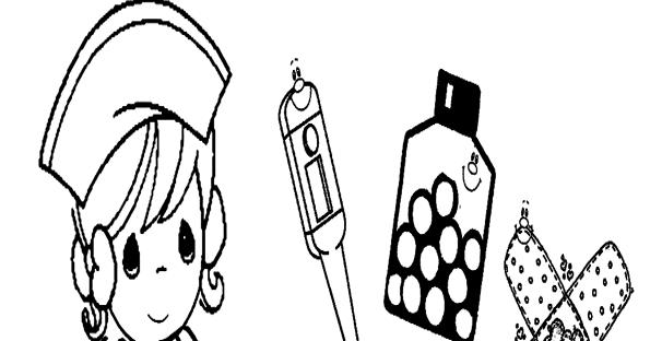 Dibujos de enfermeras para colorear | Imagenes y dibujos para imprimir