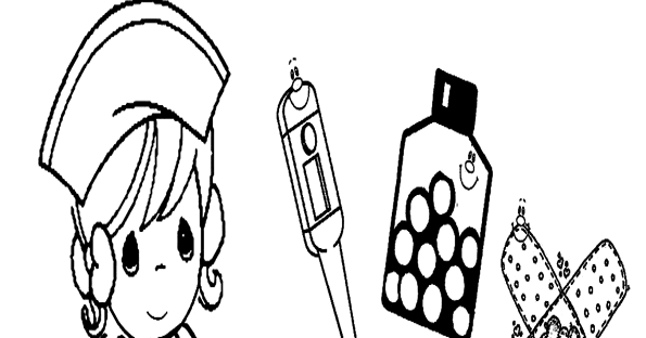 Dibujos De Medicos Para Colorear E Imprimir: Dibujos De Enfermeras Para Colorear