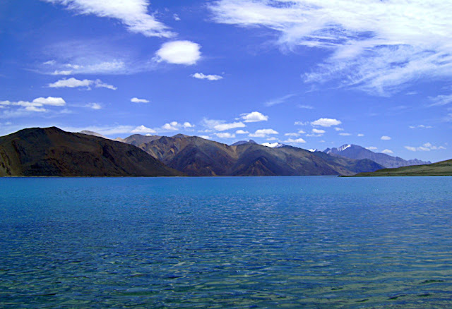 still waters of the Pangong Tso lake