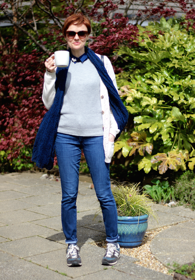 Fake Fabulous | Should older women dress casually? | Jeans, New balance and layered knits.