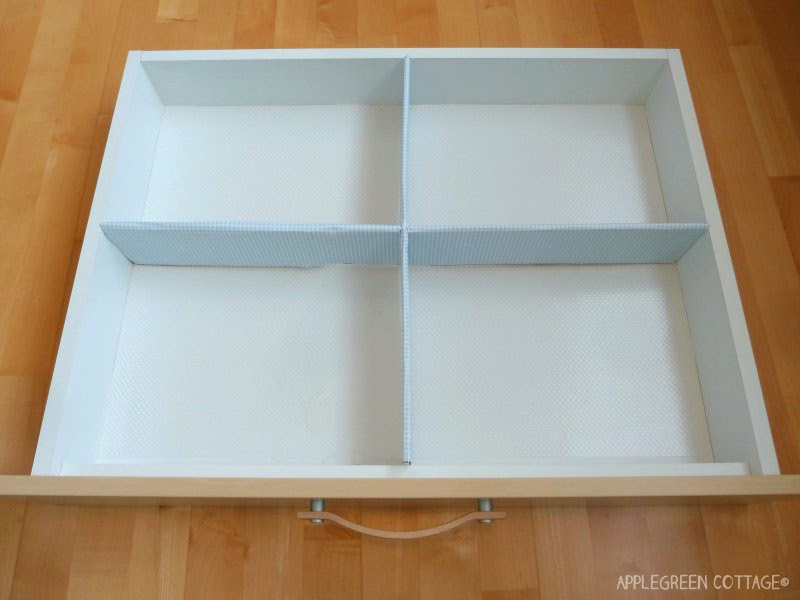 How To Diy Cardboard Drawer Dividers Applegreen Cottage