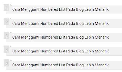Cara Mengganti Numbered List Pada Blog Lebih Menarik